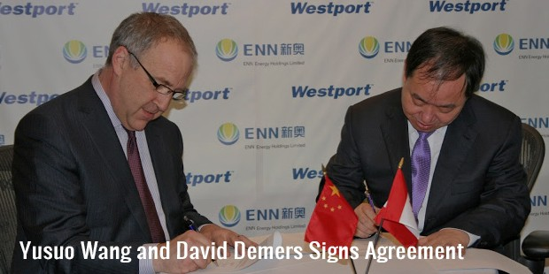 yusuo wang and david demers signs agreement