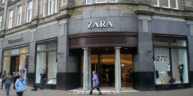 zara in dundee, uk