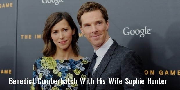 actor benedict cumberbatch with fiancee sophie hunter