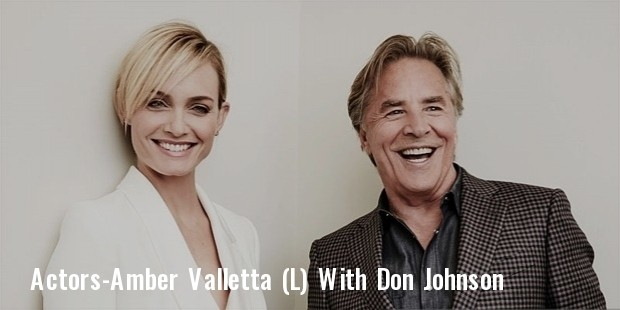 actors amber valletta  l  and don johnson