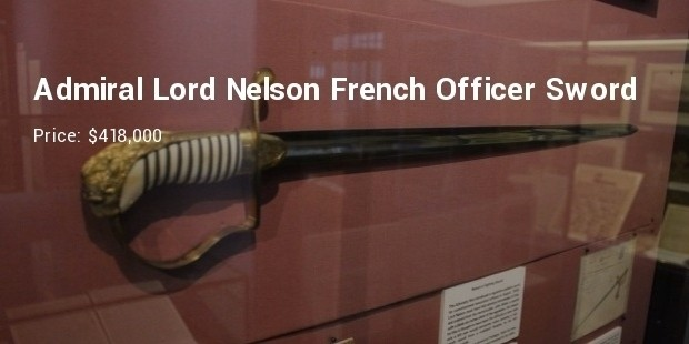 admiral lord nelsons french officer sword