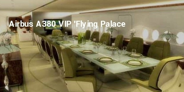 airbus a380 vip flying palace
