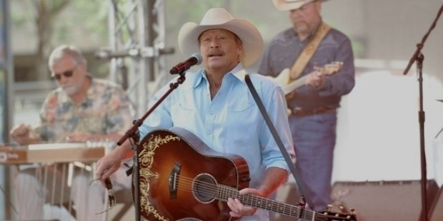 alan jackson performs on nbc s  at rockefeller plaza