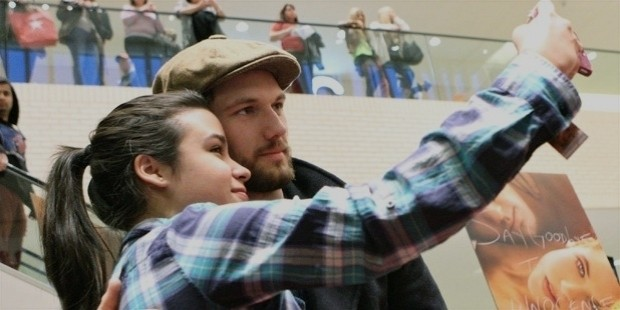 alex pettyfer made a stop in dallas to promote his latest film endless love