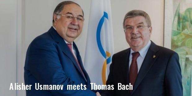 alisher usmanov meets ioc president thomas bach