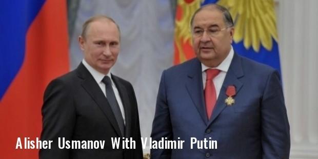 alisher usmanov with vladimir putin