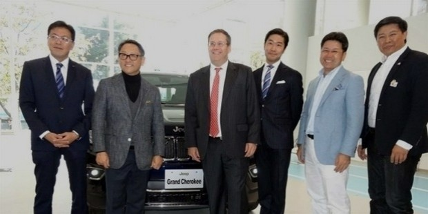 american motors fair held at odaiba toyoda of toyota mega web, a surprise move