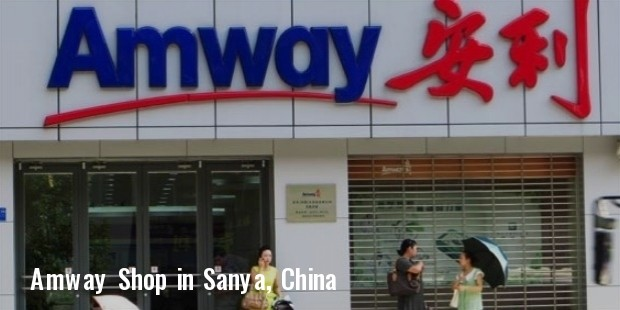 amway shop in sanya, china