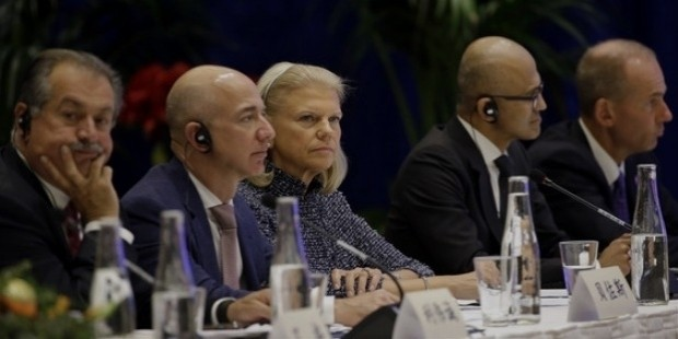 andrew liveris, jeff bezos, satya nadella, dennis muilenburg, virginia rometty
