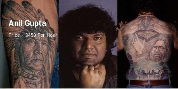 10 most expensive tattoo artists list successstory for Most expensive tattoo artist