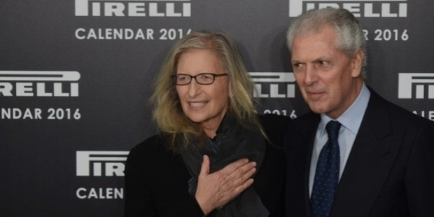 annie leibovitz and marco tronchetti provera attend a photocal
