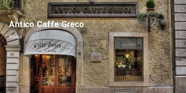 antico caff greco, rome