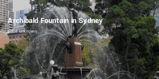archibald fountain in sydney