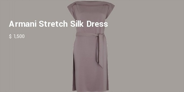 armani stretch silk dress