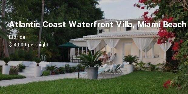atlantic coast waterfront villa, miami beach, florida