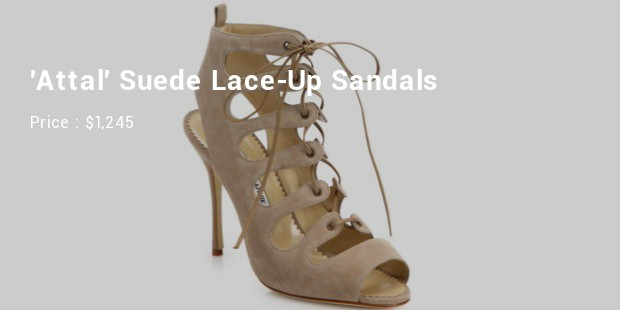 attalsuede lace up sandals