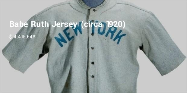 babe ruth jersey   circa 1920