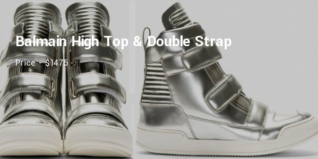 balmain high top   double strap
