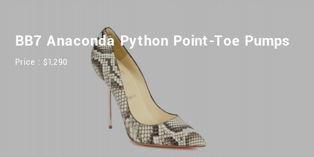 bb7 anaconda python point toe pumps