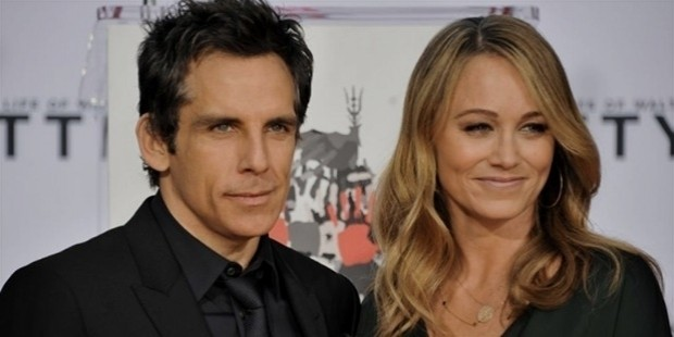 ben stiller and his wife christine taylor