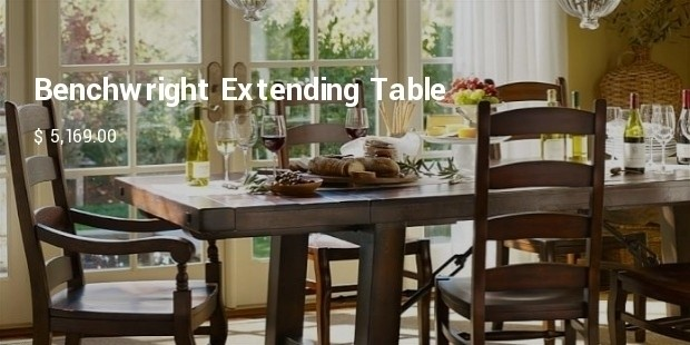 benchwright extending table and set of 10 wynn chairs