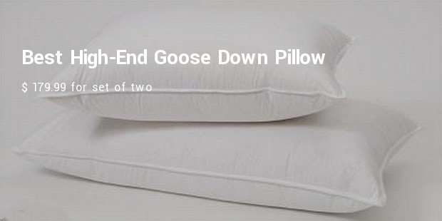 best high end goose down pillow