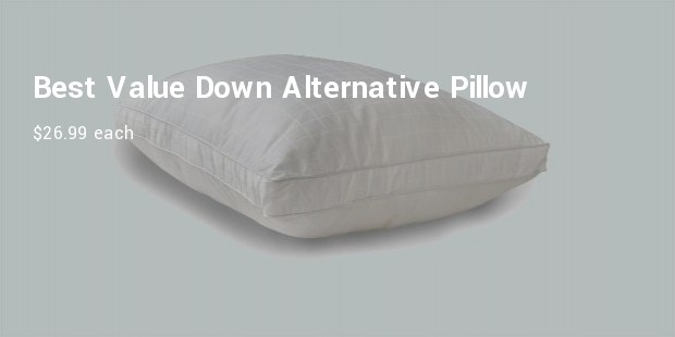 best value down alternative pillow