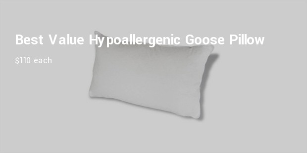 best value hypoallergenic goose feather pillow