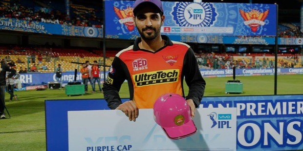 bhuvi purple cap