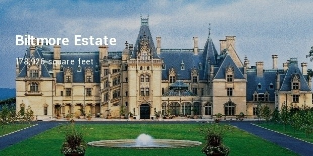 the mansion in the biltmore estate is the largest of the privately owned houses in the united states the estate itself covers 8000 acres of land and is - Biggest House In The World Pictures