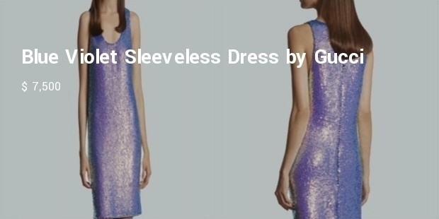 blue violet sleeveless dress by gucci