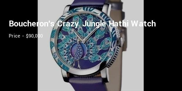 boucherons crazy jungle hathi watch
