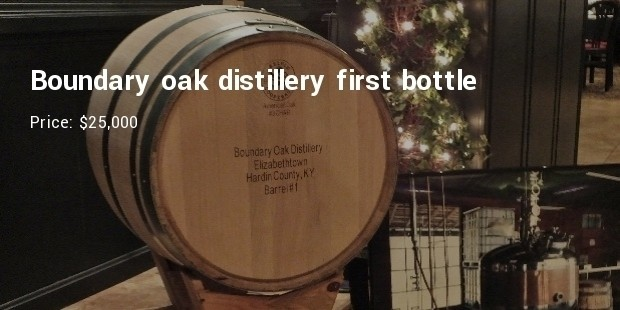 boundary oak distillery first bottle