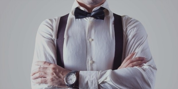 bow tie businessman fashion man large