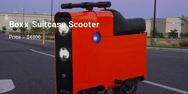 boxx suitcase scooter