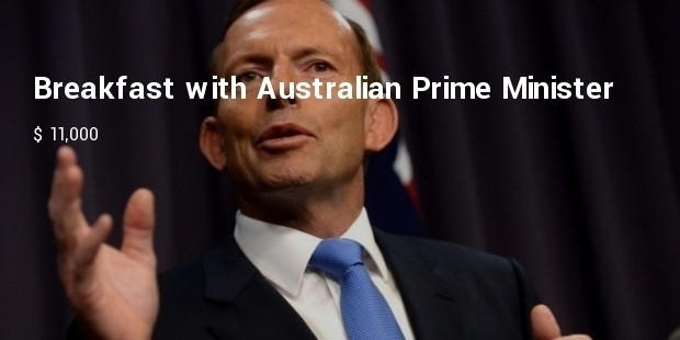 breakfast with australian prime minister