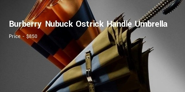 burberrynubuck ostrick handle walking umbrella