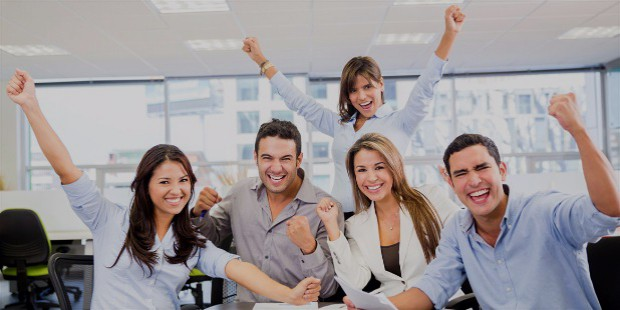 business team success successful business team with