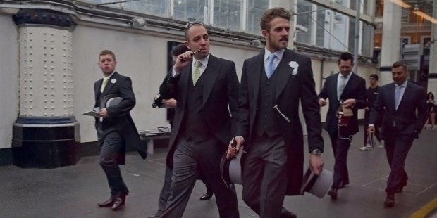 businessmen suits fancy train 4