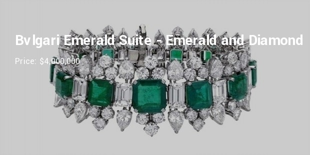 bvlgari emerald suite  emerald and diamond bracelet
