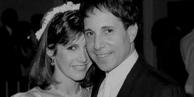 carrie fisher and paul simon relationship