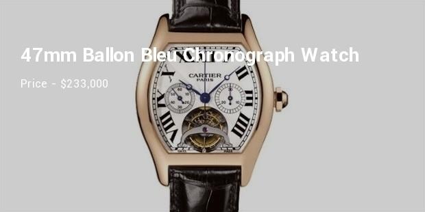 cartier extra large 47mm ballon bleu chronograph diamond watch