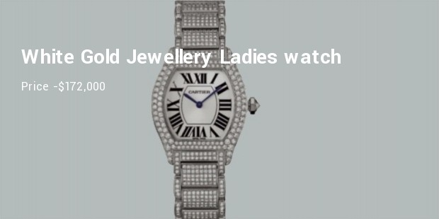 cartier large tortue white gold jewellery ladies watch