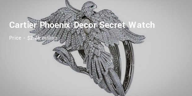cartier phoenix decor secret watch