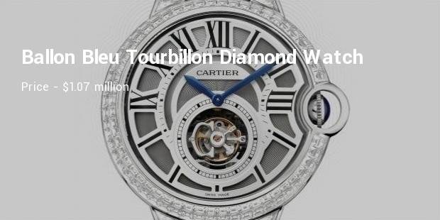 cartierextra large ballon bleu tourbillon diamond watch