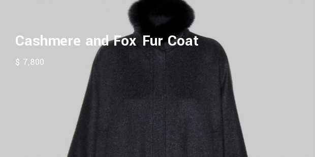 cashmere and fox fur coat