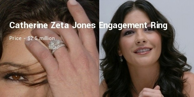 catherine zeta jones engagement ring