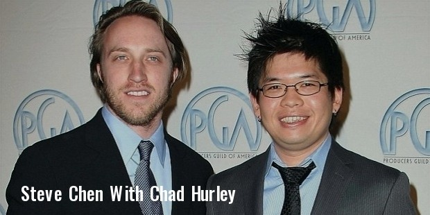 chad hurley  left  and steve chen 2008