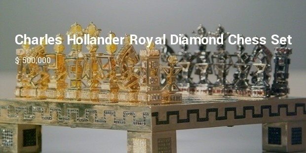 charles hollander royal diamond chess set
