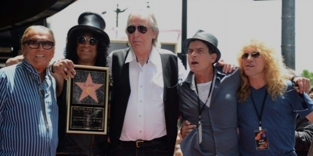 charlie sheen, slash, robert evans, jim ladd, steven adler